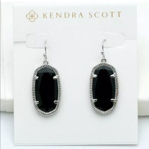 KENDRA SCOTT • Dani Black Silver Drop Earrings